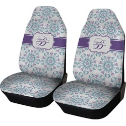 Mandala Floral Car Seat Covers (Set of Two) (Personalized)