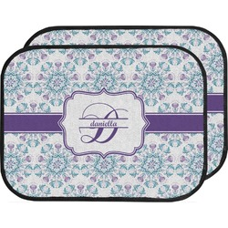 Mandala Floral Car Floor Mats (Back Seat) (Personalized)