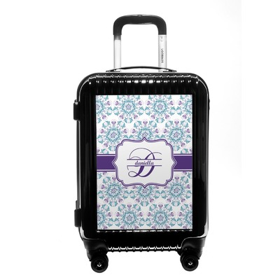 Mandala Floral Carry On Hard Shell Suitcase (Personalized)