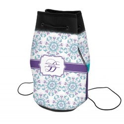 Mandala Floral Neoprene Drawstring Backpack (Personalized)