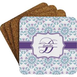 Mandala Floral Coaster Set (Personalized)