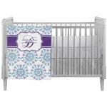 Mandala Floral Crib Comforter / Quilt (Personalized)