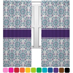 Mandala Floral Curtains (2 Panels Per Set) (Personalized)
