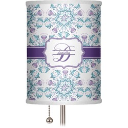 "Mandala Floral 7"" Drum Lamp Shade (Personalized)"