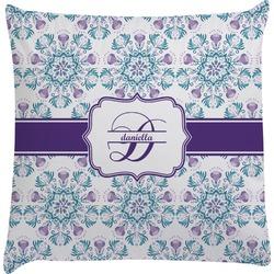Mandala Floral Decorative Pillow Case (Personalized)