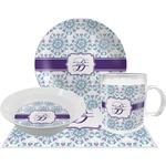 Mandala Floral Dinner Set - 4 Pc (Personalized)
