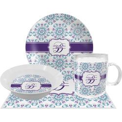 Mandala Floral Dinner Set - 4 Pc (Personalized)