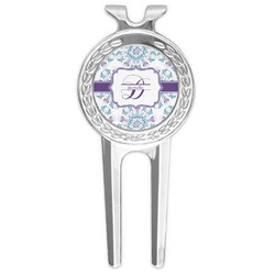 Mandala Floral Golf Divot Tool & Ball Marker (Personalized)