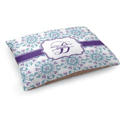 Mandala Floral Dog Pillow Bed (Personalized)