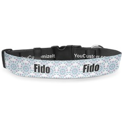 Mandala Floral Deluxe Dog Collar (Personalized)