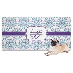 Mandala Floral Dog Towel (Personalized)