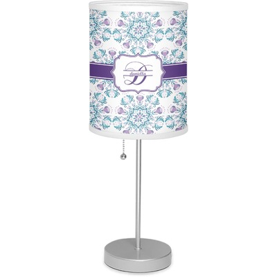 """Mandala Floral 7"""" Drum Lamp with Shade (Personalized)"""