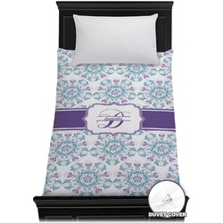 Mandala Floral Duvet Cover - Twin (Personalized)