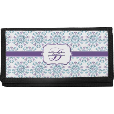 Mandala Floral Canvas Checkbook Cover (Personalized)