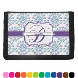 Mandala Floral Trifold Wallet (Personalized)