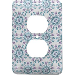 Mandala Floral Electric Outlet Plate (Personalized)