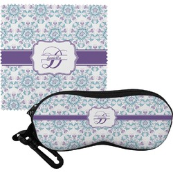 Mandala Floral Eyeglass Case & Cloth (Personalized)