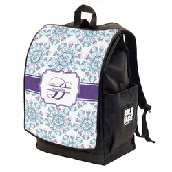 Mandala Floral Backpack w/ Front Flap  (Personalized)