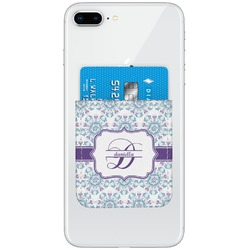 Mandala Floral Genuine Leather Adhesive Phone Wallet (Personalized)