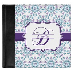 Mandala Floral Genuine Leather Baby Memory Book (Personalized)