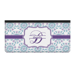 Mandala Floral Genuine Leather Checkbook Cover (Personalized)