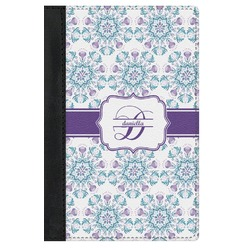 Mandala Floral Genuine Leather Passport Cover (Personalized)