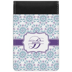 Mandala Floral Genuine Leather Small Memo Pad (Personalized)