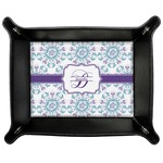 Mandala Floral Genuine Leather Valet Tray (Personalized)