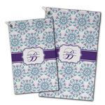 Mandala Floral Golf Towel - Full Print w/ Name and Initial