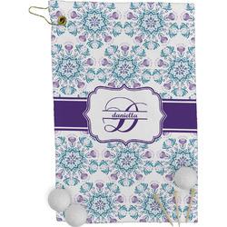 Mandala Floral Golf Towel - Full Print (Personalized)
