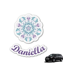 Mandala Floral Graphic Car Decal (Personalized)