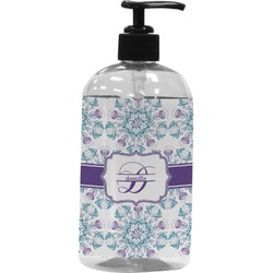 Mandala Floral Plastic Soap / Lotion Dispenser (Personalized)