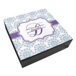 Mandala Floral Leatherette Keepsake Box - 3 Sizes (Personalized)