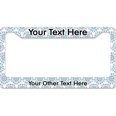 Mandala Floral License Plate Frame (Personalized)