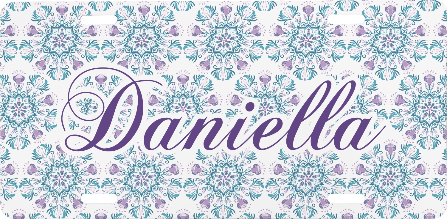 Mandala Floral Front License Plate (Personalized) - YouCustomizeIt