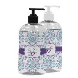 Mandala Floral Plastic Soap / Lotion Dispenser (Personalized)