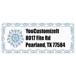 Mandala Floral Return Address Labels (Personalized)