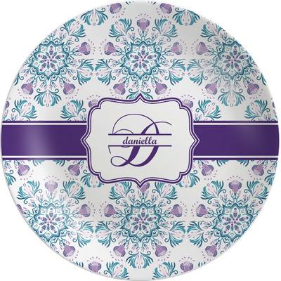 Mandala Floral Melamine Plate (Personalized)