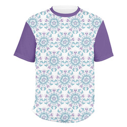 Mandala Floral Men's Crew T-Shirt (Personalized)