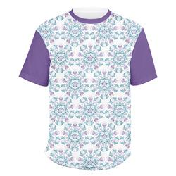 Mandala Floral Men's Crew T-Shirt (Personalized)