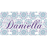 Mandala Floral Mini / Bicycle License Plate (Personalized)