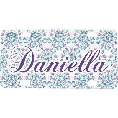 Mandala Floral Mini / Bicycle License Plate (Personalized)