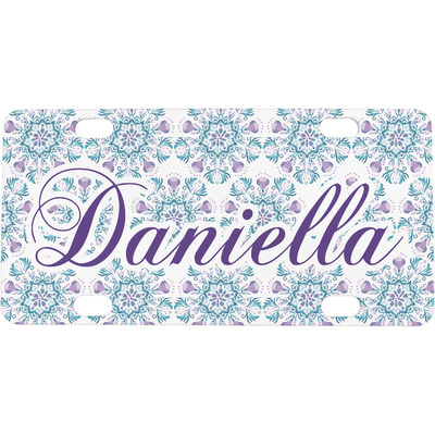 Mandala Floral Mini / Bicycle License Plate (4 Holes) (Personalized)