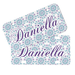 Mandala Floral Mini/Bicycle License Plates (Personalized)