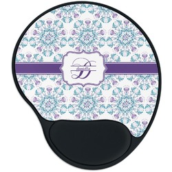 Mandala Floral Mouse Pad with Wrist Support