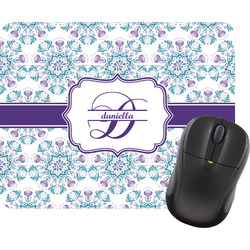 Mandala Floral Rectangular Mouse Pad (Personalized)
