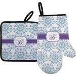 Mandala Floral Oven Mitt & Pot Holder (Personalized)
