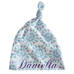 Mandala Floral Newborn Hat - Knotted (Personalized)