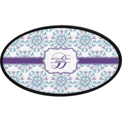 Mandala Floral Oval Trailer Hitch Cover (Personalized)
