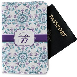 Mandala Floral Passport Holder - Fabric (Personalized)